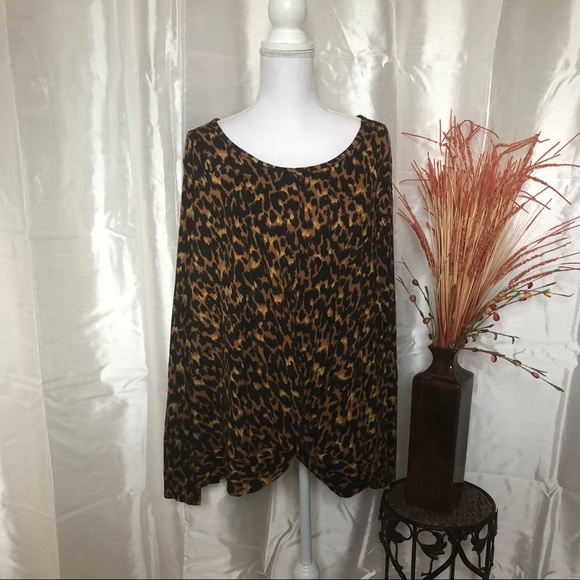 2c7fc1d39fa NWT CATO Animal Print Top 18 20 PLUS
